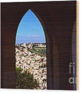 City Of Nazareth Wood Print by Thomas R Fletcher