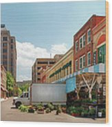 City - Roanoke Va - The City Market Wood Print by Mike Savad