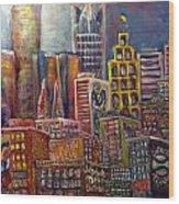 Cityscape 9 Wood Print by Don Thibodeaux