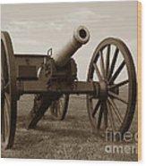 Civil War Cannon Wood Print by Olivier Le Queinec