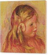 Claude Renoir Wood Print by Pierre Auguste Renoir