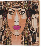Cleopatra Wood Print by Natalie Holland