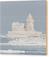 Cleveland Harbor West Pierhead Light II Wood Print by Clarence Holmes