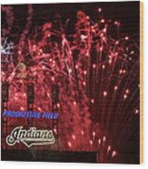 Cleveland Indians Wood Print by Frozen in Time Fine Art Photography