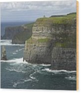 Cliffs Of Moher 2 Wood Print by Mike McGlothlen