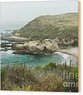 Cliffs Over Montana De Oro California Wood Print by Artist and Photographer Laura Wrede