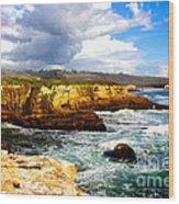 Cliffs Wood Print by Shannan Peters