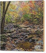 Clifty Creek In Hdr Wood Print by Paul Mashburn