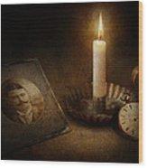 Clock - Memories Eternal Wood Print by Mike Savad