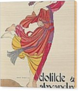 Clotilde And Alexandre Sakharoff Wood Print by George Barbier
