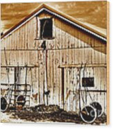 Clouds A Loom'n On Race Day Wood Print by John Debar