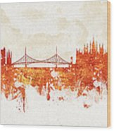 Clouds Over Budapest Hungary Wood Print by Aged Pixel
