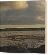 Coastal Winters Afternoon 3 Wood Print by Amy-Elizabeth Toomey