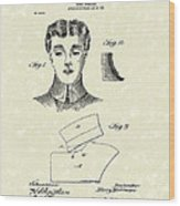Coat Collar 1904 Patent Art Wood Print by Prior Art Design