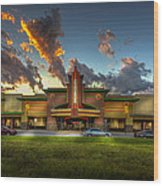 Cobb Theater Wood Print by Marvin Spates