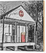 Coca Cola In The Country Wood Print by Scott Pellegrin
