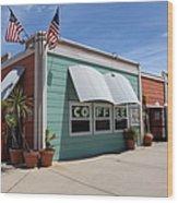 Coffee Shop At The Municipal Wharf At Santa Cruz Beach Boardwalk California 5d23833 Wood Print by Wingsdomain Art and Photography