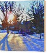 Cold Morning Sun Wood Print by Jeff Kolker