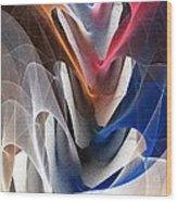Color Fold Wood Print by Anastasiya Malakhova