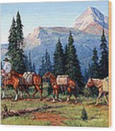Colorado Outfitter Wood Print by Randy Follis