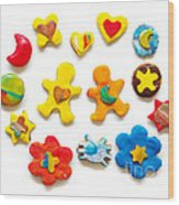 Colorful Cookies Wood Print by Carlos Caetano