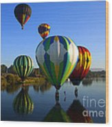 Colorful Landings Wood Print by Mike  Dawson