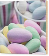 Colorful Pastel Jordan Almond Candy Wood Print by Edward Fielding