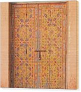 Colourful Entrance Door Sale Rabat Morocco Wood Print by Ralph A  Ledergerber-Photography