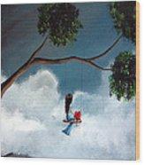 Comfortable Silence By Shawna Erback Wood Print by Shawna Erback