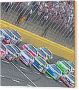 Coming Out Of Turn 4 Wood Print by Kenneth Krolikowski