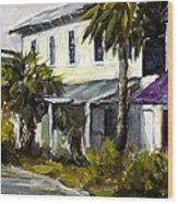 Commerce And Avenue D Wood Print by Susan Richardson