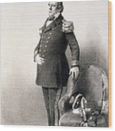 Commodore Matthew Calbraith Perry Wood Print by Wilhelm Heine