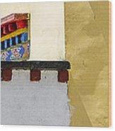 Composition 2 Wood Print by Hitendra SINKAR