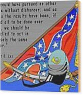 Confederate States Of America Robert E Lee Wood Print by Digital Creation
