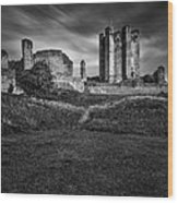 Conisbrough Castle Doncaster Wood Print by Ian Barber