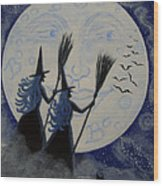 Conjuring Constellations Wood Print by Christine Altmann