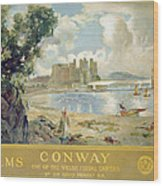 Conway Castle Wood Print by Sir David Murray