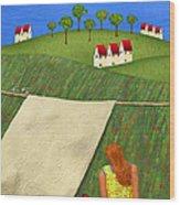 Cool Breeze Wood Print by Anne Klar