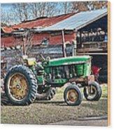 Coosaw - John Deere Tractor Wood Print by Scott Hansen