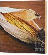 Corn Ear Wood Print by Sinisa Botas