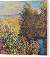 Corner Of Garden In Montgeron Wood Print by Claude Monet
