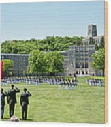 Corps Of Cadets Present Arms Wood Print by Dan McManus