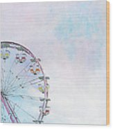 Cotton Candy Ferris Wheel Wood Print by Kay Pickens