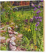 Country Garden Wood Print by Omaste Witkowski