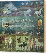 Country Pleasures Wood Print by Evie Cook