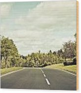 Country Road Wood Print by Tom Gowanlock