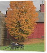 Country Wagon Wood Print by Bill Wakeley