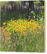 Countryside Cottage Garden 5d24560 Wood Print by Wingsdomain Art and Photography