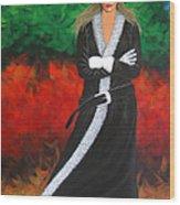 Cowgirl Wood Print by Lance Headlee