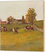 Cows2 Wood Print by J Reifsnyder